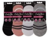 72 Units of Womens No Show Loafer Socks Size 9-11 Assorted Prints, Priced Per Pair - Womens Ankle Sock
