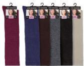 120 Units of Womens 9-11 Assorted Color Knee High Uniform Socks - Womens Knee Highs