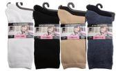 120 Units of Womens 9-11 Assorted Color Basic Crew Socks - Womens Crew Sock