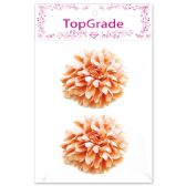 144 Units of Satin Flower Peach Two Count - Arts & Crafts