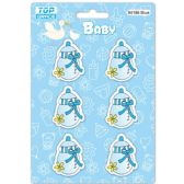 96 Units of Wooden Decoration Baby Blue Bottle - Baby Shower