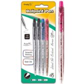 96 Units of Four Count Click Ballpoint Pen Assorted - Pens