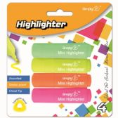 96 Units of Four Count Mini Highlighters - Highlighter
