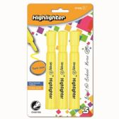 96 Units of Three Count Jumbo Highlighter Yellow - Markers and Highlighters
