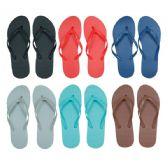 96 Units of Women's Solid Color Flip Flops - Women's Flip Flops