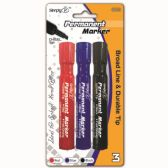 96 Units of Three Piece Permanent Assorted - Markers and Highlighters