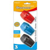 96 Units of Three Pack One Hole Sharpener - Sharpeners