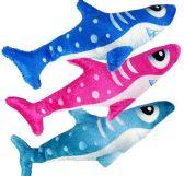 """48 Units of 8"""" Plush Sharks - Plush Toys"""