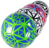 12 Units of Official Size Triangles Design Soccer Balls - Balls