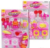 9 Units of 19 Piece Pink Happy Kitchen Play Sets - Toy Sets