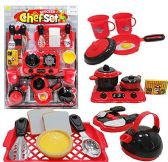 6 Units of 21 Piece Kitchen Chef Sets - Toy Sets