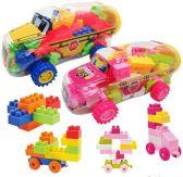 6 Units of 50 Pc Interlocking Block Sets - Toy Sets
