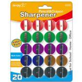 96 Units of Twenty Piece Pencil Sharpener - Sharpeners