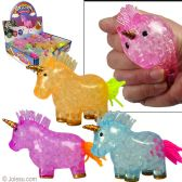 "48 Units of 4.5"" Unicorn Squeezy Crystal Stress Balls - Slime & Squishees"