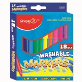 96 Units of Eighteen Piece Washable Markers - Markers and Highlighters