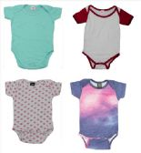 24 Units of Infant Assorted Design & Color Onesie, Size S - Baby Apparel