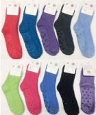 180 Units of Women Solid Color Fuzzy Socks With Gripper Bottom Size 9-11 - Womens Fuzzy Socks