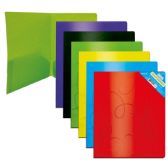 96 Units of Two Pocket print poly folder Swirl Embossed - Folders and Report Covers