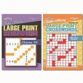 160 Units of Large Print Crosswords - Crosswords, Dictionaries, Puzzle books
