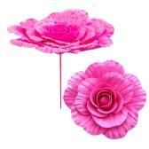 36 Units of Twelve Inch Foam Flower Hot Pink - Artificial Flowers