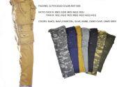 12 Units of Men's Fashion Cargo Pants 100% Cotton Size Scale B Only - Mens Pants