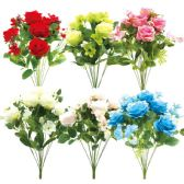 24 Units of Eleven Head Flower Assorted - Artificial Flowers