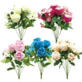 24 Units of Twelve Head Flower Assorted Color - Artificial Flowers