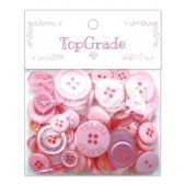 96 Units of Button Baby Pink - Sewing Supplies