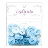 96 Units of Button Baby Blue - Sewing Supplies