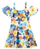 6 Units of Girls Flower Print Dress in Size 4-6X - Girls Dresses and Romper Sets