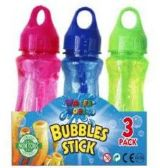 24 Units of 3 Pack Bubble Sticks - Bubbles