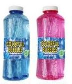 24 Units of 16 Oz Colorful Bubbles Refill - Bubbles