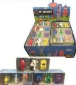 48 Units of 3 Pack Mini Cars Erasers - Erasers