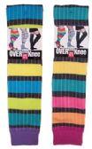 60 Units of Women's Over the Knee Rainbow Stripe Socks - Womens Over the knee sock