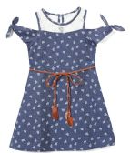 6 Units of Girls' Navy Jean Dress in Size 4-6X - Girls Dresses and Romper Sets