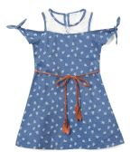 6 Units of Girls' Indigo Jean Dress in Size 7-14 - Girls Dresses and Romper Sets