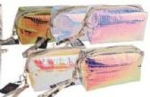24 Units of Transparent Hologram Cosmetic Bag - Cosmetic Cases