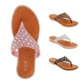 40 Units of Womens Rhinestone Flip Flop - Women's Flip Flops