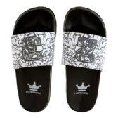 12 Units of Mens Elephant Print 23 Slide - Men's Flip Flops and Sandals