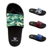 48 Units of Mens Camo Slide - Men's Flip Flops and Sandals