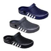 36 Units of Mens Striped Garden Clogs - Men's Flip Flops and Sandals