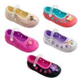 60 Units of Girls Mary Jane Shoes - Girls Flip Flops