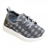 9 Units of Kids Diamond Knit Jogger In Grey - Boys Sneakers