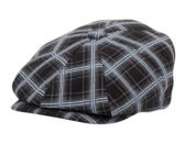 12 Units of COTTON CHECK NEWSBOY CAPS - Fedoras, Driver Caps & Visor