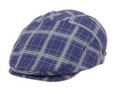 12 Units of COTTON SLIM FIT SIX PANEL CHECK IVY CAPS IN NAVY - Fedoras, Driver Caps & Visor