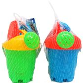 48 Units of BEACH TOY BUCKET W/ACSS IN PEGABLE NET BAG - Beach Toys