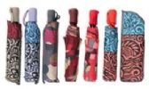 24 Units of Fully Automatic Windproof Printed Umbrella - Umbrellas & Rain Gear