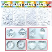 48 Units of Acrylic Crystal Clear - Craft Beads