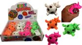 72 Units of Mesh Squish Ball with Water Beads Unicorn - Slime & Squishees