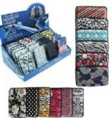 24 Units of Women's Assorted Print Aluminum Wallet - Wallets & Handbags